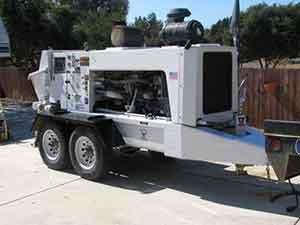 concrete trailer pump schwing 1000